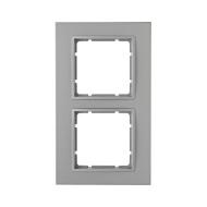 Berker 10126424 Рамкa B.7, 2-местная, цвет: алюминиевый серия  купить в Москве, цена в России: опт, розница   smartipad.ru