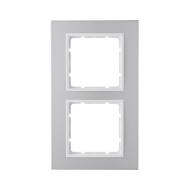 Berker 10126914 Рамкa B.7, 2-местная, алюминий, цвет: полярная белизна серия  купить в Москве, цена в России: опт, розница   sma