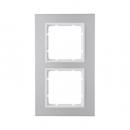 10126914 Рамкa B.7, 2-местная, алюминий, цвет: полярная белизна