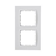 Berker 10126919 Рамкa B.7, 2-местная, цвет: полярная белизна серия  купить в Москве, цена в России: опт, розница   smartipad.ru