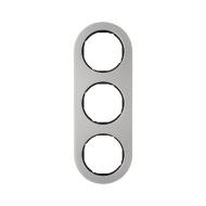Berker 10132004 Рамка, R.Classic, 3-местная, нержавеющая сталь, цвет: черный (185,87) серия  купить в Москве, цена в России: опт