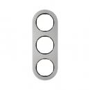 10132004 Рамка, R.Classic, 3-местная, нержавеющая сталь, цвет: черный (185,87)