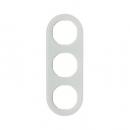 10132009 Рамка, R.Classic, 3-местная, стекло, цвет: полярная белизна (185,87)
