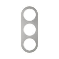 Berker 10132014 Рамка, R.Classic, 3-местная, нержавеющая сталь цвет: полярная белизна (185,87) серия  купить в Москве, цена в Ро