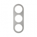 10132014 Рамка, R.Classic, 3-местная, нержавеющая сталь цвет: полярная белизна (185,87)