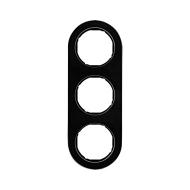 Berker 10132016 Рамка, R.Classic, 3-местная, стекло, цвет: черный (185,87) серия  купить в Москве, цена в России: опт, розница  