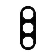Berker 10132045 Рамка, R.Classic,3-местная, цвет: черный (50,91) серия  купить в Москве, цена в России: опт, розница   smartipad