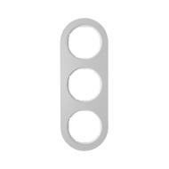 Berker 10132074 Рамка, R.Classic, 3-местная, алюминий, цвет: полярная белизна (185,87) серия  купить в Москве, цена в России: оп