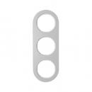 10132074 Рамка, R.Classic, 3-местная, алюминий, цвет: полярная белизна (185,87)