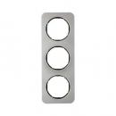 10132104 Рамка, R.1, 3-местная, нержавеющая сталь цвет: черный (140,54)
