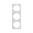 10132109 Рамка, R.1, 3-местная, стекло, цвет: полярная белизна (140,54)