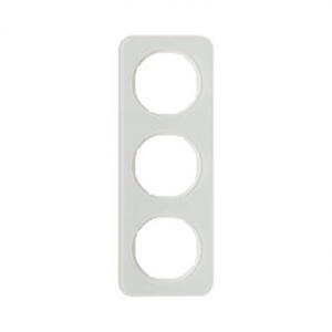 Berker 10132109 Рамка, R.1, 3-местная, стекло, цвет: полярная белизна (140,54) серия  купить в Москве, цена в России: опт, розни