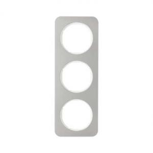 Berker 10132114 Рамка, R.1, 3-местная, нержавеющая сталь цвет: полярная белизна (140,54) серия  купить в Москве, цена в России: