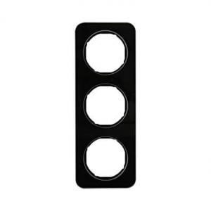 Berker 10132116 Рамка, R.1, 3-местная, стекло, цвет: черный (140,54) серия  купить в Москве, цена в России: опт, розница | smart