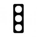 10132145 Рамка, R.1, 3-местная, цвет: черный (20,51)