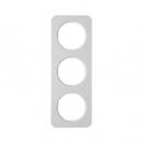 10132174 Рамка, R.1, 3-местная, алюминий, цвет: полярная белизна (140,54)