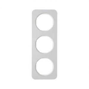 Berker 10132174 Рамка, R.1, 3-местная, алюминий, цвет: полярная белизна (140,54) серия  купить в Москве, цена в России: опт, роз