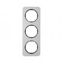 10132184 Рамка, R.1, 3-местная, алюминий, цвет: черный (140,54)