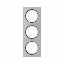10132204 Рамка, R.3, 3-местная, нержавеющая сталь цвет: черный (140,54)
