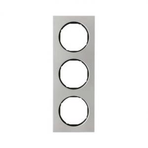 Berker 10132204 Рамка, R.3, 3-местная, нержавеющая сталь цвет: черный (140,54) серия  купить в Москве, цена в России: опт, розни