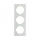 10132209 Рамка R.3, 3-местная, стекло, цвет: полярная белизна (140,54)