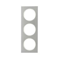 Berker 10132214 Рамка, R.3, 3-местная, нержавеющая сталь цвет: полярная белизна (140,54) серия  купить в Москве, цена в России:
