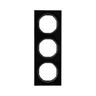 Berker 10132216 Рамка R.3, 3-местная, стекло, цвет: черный (140,54) серия  купить в Москве, цена в России: опт, розница | smarti