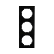 Berker 10132216 Рамка R.3, 3-местная, стекло, цвет: черный (140,54) серия  купить в Москве, цена в России: опт, розница   smarti