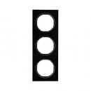 10132216 Рамка R.3, 3-местная, стекло, цвет: черный (140,54)