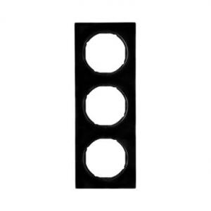 Berker 10132245 Рамка, R.3, 3-местная, цвет: черный (20,51) серия  купить в Москве, цена в России: опт, розница | smartipad.ru