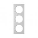 10132274 Рамка, R.3, 3-местная, алюминий, цвет: полярная белизна (140,54)
