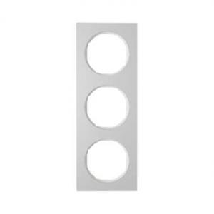 Berker 10132274 Рамка, R.3, 3-местная, алюминий, цвет: полярная белизна (140,54) серия  купить в Москве, цена в России: опт, роз
