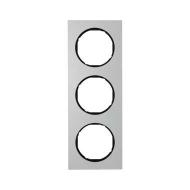 Berker 10132284 Рамка, R.3, 3-местная, алюминий, цвет: черный (140,54) серия  купить в Москве, цена в России: опт, розница | sma