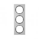 10132284 Рамка, R.3, 3-местная, алюминий, цвет: черный (140,54)