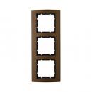 10133001 Рамкa B.3, 3-местная, алюминий, цвет: коричневый/антрацитовый