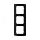 10133005 Рамкa B.3, 3-местная, алюминий, цвет: черный/антрацитовый