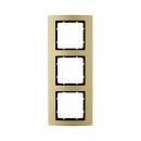 10133016 Рамкa B.3, 3-местная, алюминий, цвет: золотой/антрацитовый