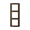 10133021 Рамкa B.3, 3-местная, алюминий, цвет: коричневый/полярная белизна