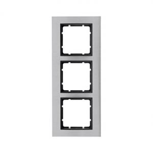Berker 10133606 Рамкa B.7, 3-местная, нержавеющая сталь, цвет: антрацитовый серия  купить в Москве, цена в России: опт, розница