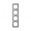 10142104 Рамка, R.1, 4-местная, нержавеющая сталь цвет: черный (192,23)