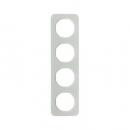 10142109 Рамка, R.1, 4-местная, стекло, цвет: полярная белизна (192,23)