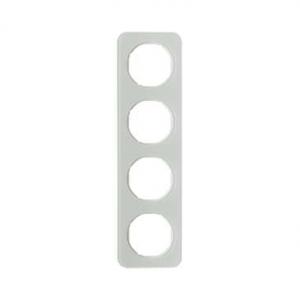 Berker 10142109 Рамка, R.1, 4-местная, стекло, цвет: полярная белизна (192,23) серия  купить в Москве, цена в России: опт, розни