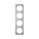 10142114 Рамка, R.1, 4-местная, нержавеющая сталь цвет: полярная белизна (192,23)