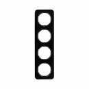 10142116 Рамка, R.1, 4-местная, стекло, цвет: черный (192,23)