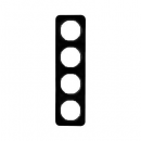 10142145 Рамка, R.1, 4-местная, цвет: черный (33,23)