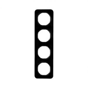 Berker 10142145 Рамка, R.1, 4-местная, цвет: черный (33,23) серия  купить в Москве, цена в России: опт, розница | smartipad.ru