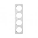 10142174 Рамка, R.1, 4-местная, алюминий, цвет: полярная белизна (192,23)