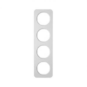 Berker 10142174 Рамка, R.1, 4-местная, алюминий, цвет: полярная белизна (192,23) серия  купить в Москве, цена в России: опт, роз
