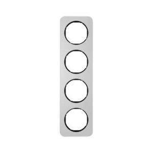 Berker 10142184 Рамка, R.1, 4-местная, алюминий, цвет: черный (192,23) серия  купить в Москве, цена в России: опт, розница | sma