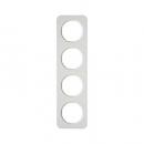 10142189 Рамка, R.1, 4-местная, цвет: полярная белизна (23,2)